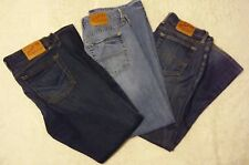 LUCKY BRAND WOMENS JEANS LOT of 3 Size 12 / 31 Dark Light Red Tag Blue Denim