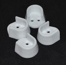 4 Kleiderschrank Schiene Halter in Weißes Plastik für 15mm oval Wandbehang