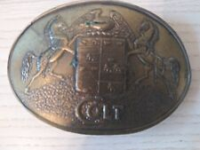 Colt Brass Belt Buckle -Lewis Co., Vintage Collectible - Good Condition
