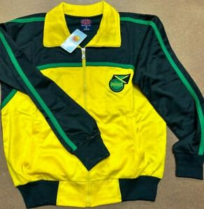 Jamaica Track Jacket Premium Full Zip Pockets All Sizes Available NWT Track