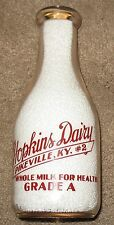 Hopkins Dairy #2 - Pikeville, KY Kentucky Pyro Quart Milk Bottle TRPQ