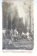 GRANGES SUR VOLOGNE    Guerre 1914 1918 Construction d'un chemin en forêt  CPA