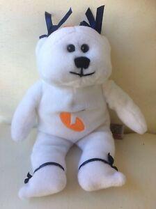 RARE Telstra Small White Beanie Bear 1990's HTF Sports Stuff Collectables 20cm