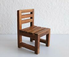 Chair Model Miniature Doll Toy Wood Craft Hand Art Collectible Gift