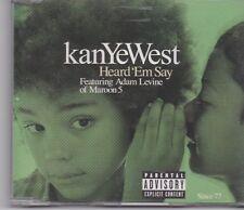 KanYeWest feat Adam Levine of Maroon 5-Heard Em Say cd maxi single 2 tracks