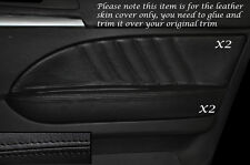 BLACK STITCH 2X FRONT DOOR CARD TRIM LEATHER COVERS FITS ALFA ROMEO 159 05-12