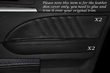 BLACK Stitch 2x FRONT DOOR CARD Trim in pelle copre gli accoppiamenti ALFA ROMEO 159 05-12