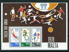 Malta Soccer World Argentina 1978 Souvenir Sheet MNH