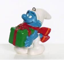 Vntg 1981 CHRISTMAS GIFT SMURF Schleich Peyo ORNAMENT
