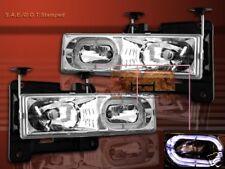 88-99 Chevy Full Size C/K 3500 Tahoe GMC Yukon Suburban Headlights Halo Clear