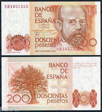 200 pesetas año 1980 Clarín SERIE 8B  SC - SPAIN Pick 156 Replacement UNC