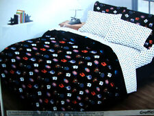 New NHL hockey all 6 Canadian teams logos reversible twin single comforter