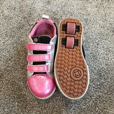 Heelys Pink Tennis Shoes With Wheels Skating Youth Girl Size 1 READ