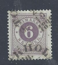 SWEDEN 1888  6ö  LILAC  WITH POSTHORN USED  SG 33