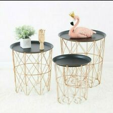Storage Basket And Side Table