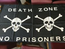 Death Zone No Prisoners Skull & Crossbones Poster Flag 29 x 40""