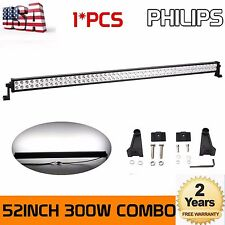 52Inch 300W PHILIPS Led Off-road Light Bar Flood Spot Off-road Suv Driving Lamp