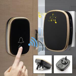 Waterproof Wireless Doorbell Range Door Bells Doorbell Cordless Doorbell Home UK