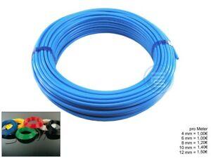 Pneumatikschlauch Meterware PolyethylenSchlauch-Schwarz Blau Natur Gelb Rot Grün