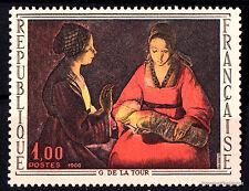Timbre neuf de 1966 Yt 1479 le Nouveau Né de Georges de la Tour