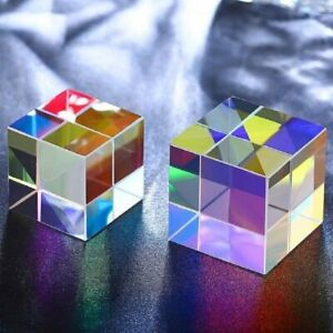 Color Glass Prism Rainbow Cube Spectroscope Physics Teaching Experiment