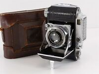 Welta Weltini 35mm Folding Camera Rangefinder Schneider 5cm f/2.8, w/ Case 1938