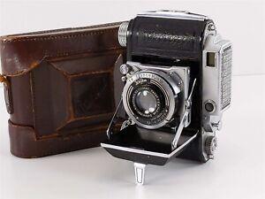 Welta Weltini 35mm Folding Camera Rangefinder Schneider 5cm f/2.8, w/ Case 1938