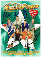 Allgäu Power - original signierte Autogrammkarte - signed Autogramm in Person