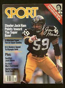 Jack Ham Signed Sport Mag Jan 1980 No Label Steelers Football Autograph HOF JSA
