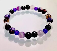 CONCENTRATION, MEMORY, MOTIVATION & FOCUS - CRYSTAL HEALING GEMSTONE BRACELET
