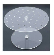 Snap Jewelry Clear Acrylic Display Stand Organizer & Holder fits 18-20mm NIB