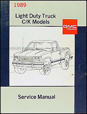 1989 GMC Sierra CK Pickup Shop Manual NEW can use for Chevy 1500 2500 3500 Truck