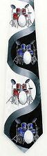 Drum Sets Mens Necktie Drums Drummer Musical Instrument Music Black Neck Tie New