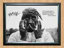Tupac Shakur 2PAC Signed Autographed A4 Print Poster Music Photo Singer Picture