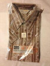 Blouse Women's Vintage Grants Shirt Fashion Size 34 Short Sleeves Brown