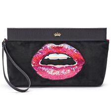 NWT Juicy Couture Velour Lips Clutch Designer Purse Tote Wristlet Wallet Bag -