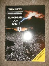 THIN LIZZY~THUNDER & LIGHTENING~European Tour 1983 Concert Programme~UK FREEPOST