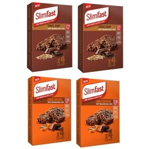 Slim Fast 16 x 60g Meal Bars = 8 Choc Chip With 8 Choc Orange Meal Replacement