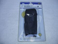 MOTOROLA D170 Handy Schutzhülle Tasche Leder schwarz Vintage Neu OVP