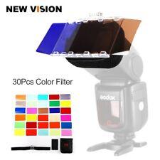 Falcon Eyes CFA-30K Kit Flash Speedlite 30 Colors Color Gel with Barndoor & Bag