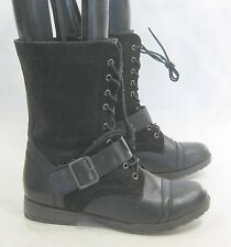 new Blacks  Lace  Combat  Riding Winter sexy ankle sexy boot Size  7
