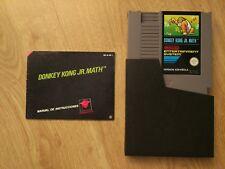 DONKEY KONG JR. MATH JUEGO NINTENDO NES PAL B GAME + MANUAL INSTRUCCIONES ESP JR