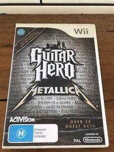 Guitar Hero Metallica Nintendo Wii, Complete, gd cond, Aussie Stock