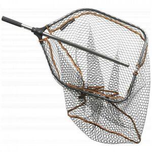 Savage Gear Pro Folding Rubber Mesh Landing Net - Large Black