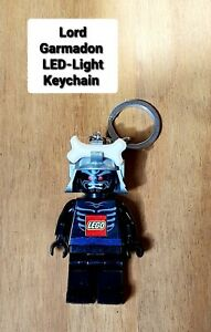 USED LEGO NINJAGO LORD GARMADON MINIFIGURE LED-LIGHT KEYCHAIN EX'CL CONDITION