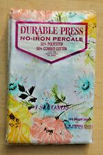 #1 Seconds ~ 2 Pillowcases ~ 21 x 27 ~ Multi Color ~ Floral ~ Vintage