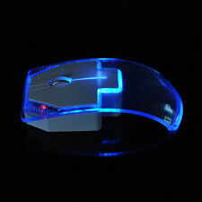 2.4GHz Wireless 5 Optical Mouse Emitting Mouse + USB Receiver for PC Laptop Blue
