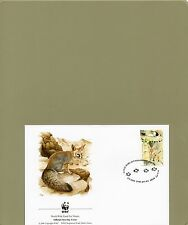 TIMBRE FDC  4 WWF ANIMAUX RENARDS/WWF STAMPS FDC ANIMALS FOXES