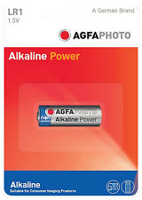 AG637 AGFA PHOTO Alkaline LR1 (MN9100/N) - Pack of 1, For Cameras and Remotes