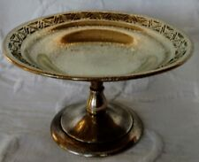 TIFFANY Bronze w/a Gold Dore Finish Tazza/Compote Stand, Brilliant & Nice!